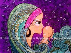 romina lerda cuadros - Buscar con Google Karla Gerard, Mother Art, Turkish Art, Painting People, Arte Popular, Aboriginal Art, Art Plastique, Face Art, Mixed Media Art