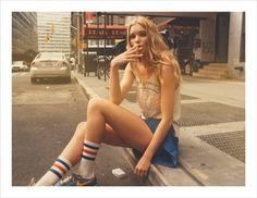Elsa Hosk photography by Guy Aroch Guy Aroch, Elsa Hosk, Soft Grunge, Black And White Tumblr, Black White, Style Année 70, Nike Style, Jamel Shabazz, Chantal