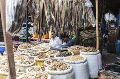 Dry fish sellers at the Karwan Dry Fish Market (Bazar), Dhaka, Bangladesh, Indian Sub-Continent, Asia