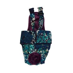 Dog Diaper Overall - Made in USA - Turquoise Flower Escape-Proof Washable Dog Diaper Overall for Dog Incontinence, Marking, Housetraining and Females in Heat ** See this awesome image  : Cat litter