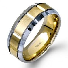 Simon G Men's Wedding Band looks fricken awesome but i'm not getting married...