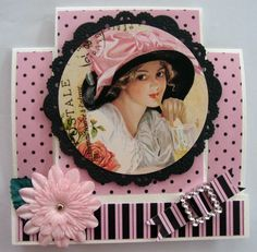 A Centre Step Card Kanban Crafts, Center Step Cards, Art Deco Cards, Stepper Cards, Vintage Cards, Really Cool Stuff, Birthday Cards, Projects To Try, Frame