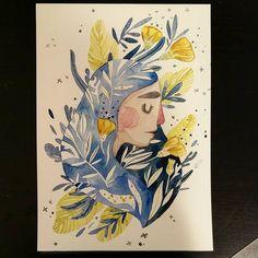 Teardrop . . . . . . #lowcostunicorns #watercolourillustration #teardrop #waterfairy #fairyillustration #magiccreatures #illustratorsofinstagram #romanianillustrator