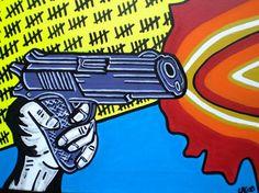 pop art paintinggun by AbstractGraffitiShop on Etsy, $60.00