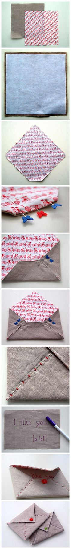 The people who like it to be a envelope package 패브릭 봉투 만들기! Sewing Hacks, Sewing Tutorials, Sewing Patterns, Fabric Crafts, Sewing Crafts, Sewing Projects, Sewing Diy, Patchwork Quilting, Quilts