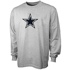 4379d934328 Reebok Dallas Cowboys Gray Youth Logo Premier Long Sleeve T-Shirt https://