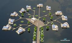 Nomadream – Houseboats and houses Floating Architecture, Green Architecture, Futuristic Architecture, Underwater Hotel, Houseboat Living, City Layout, Hotel Room Design, Container House Plans, Luxury Homes Dream Houses