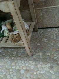 Bali Cloud Pebble tile flooring