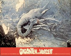 German lobby card set for 'Legend Of Dinosaurs And Monsterbirds'