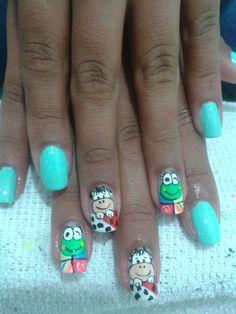 vaca Nail Art, Nails, Painting, Beauty, Gel Nail, Cow, Finger Nails, Ongles, Painting Art