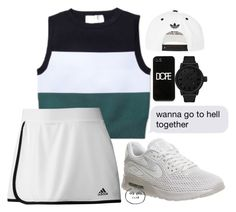 """104"" by avesatan-z ❤ liked on Polyvore featuring A.L.C., Tsovet, Dope, adidas and NIKE"