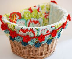Bicycle Basket Liner Electra Basket Liner by BlueSkyConfections
