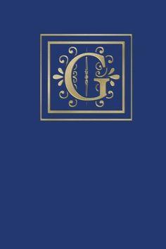 Ruled Monogram Journal G
