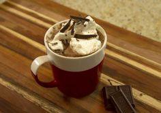 """""""Frozen"""" Hot Chocolate - yum! #chocolate #drinks #recipe #fun #kids #winter"""