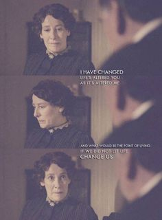 Mrs Hughes- Downton Abbey // She's always got some wise words.