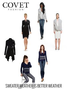 We've got your Fall 2015 sweaters in Covet Fashion.