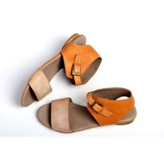 40 Leather Sandals Camel Strappy Sandals Handmade Sandals Summer Shoes... ($123) ❤ liked on Polyvore featuring shoes, sandals, grey, women's shoes, grey sandals, white leather sandals, slingback sandals, white strap sandals and white flats