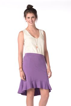 Synergy Clothing Darling Skirt - Women's Sustainable Clothing, Ballet Skirt, Purple, Skirts, Color, Clothes, Fashion, Sustainable Clothes, Moda
