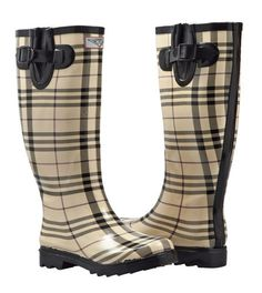 Women's Flat Wellies Rubber Rain Snow Boots Rainboots