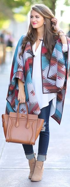Aztec Cape Fall Inspo by Southern Curls and pearls