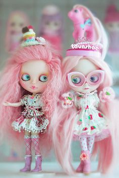 Love all the ooey gooey Candy pink, but not their face ups for her