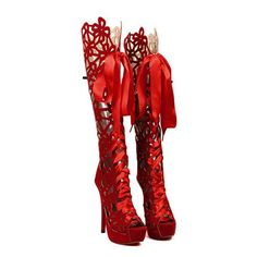 Fashion Style Lace-Up and Openwork Design Women's Boots