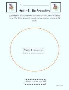 Country Heights Elementary Leader in Me: Habit 1 - Be Proactive FREEBIES