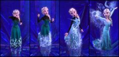 I rewatched frozen today, and I realized that Elsa's clothing transformation reveals so much. Before she had a dress that covered every inch of her skin- and it wasn't as though she was cold, because, come on now, the cold never bothered her anyways- but as though she was afraid to let her real self show. Her new dress was truly an expression of the freedom she now has to be herself.