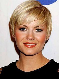 quick-short-hairstyles-with-bangs-for-thin-straight-hair-in-light-blonde-color-for-round-faces-women.jpg (495×665)