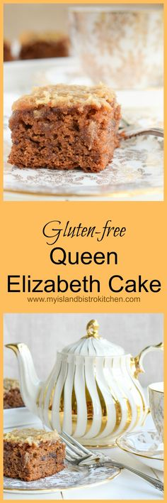 This single layer gluten-free Queen Elizabeth Cake is moist and tasty, made with dates, spices, and a delectable toffee-like topping.