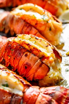 Broiled Lobster Tails with Honey Garlic Butter White Wine Sauce is a fancy, classy and best of all EASY to make recipe. Ready in under 20 minutes, let the oven do all the cooking for you! Full of flavour, there's no need to go to a restaurant for chef-tasting, slightly charred lobster tails!