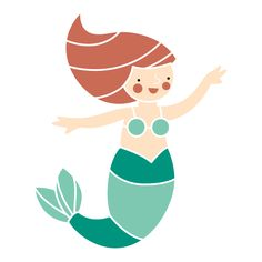 Mermaid Wall Stencil for Underwater Mural for Kids