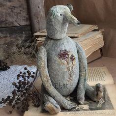 Мишки Тедди ручной работы. Ярмарка Мастеров - ручная работа. Купить Eliot. Handmade. Серый, закатанный плюш, винтажный мишка