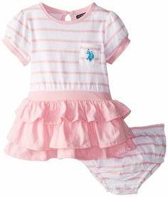 Amazon Com U S Polo Assn Baby Girls Newborn Flutter Sleeve Tank