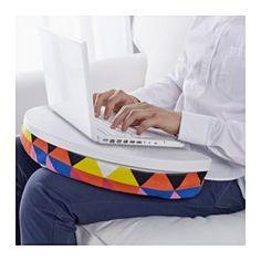 IKEA - BYLLAN, ラップトップサポート,  , マイヴィーケン マルチカラー/ホワイト, , 布カバーは取り外して洗濯機で洗えます下にクッションが付いているので、ひざの上でも安定します
