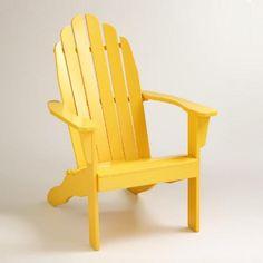 One of my favorite discoveries at WorldMarket.com: Lemon Adirondack Chair