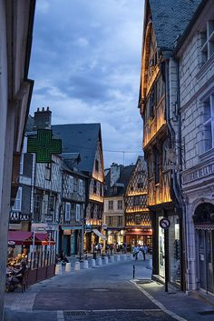 Bourges, France One of my favorite town in France - the whole town is just like the picture, so pretty.