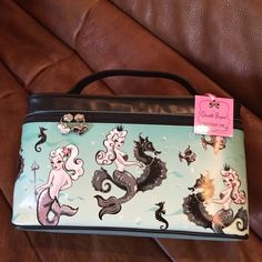 """Fluff Make Up Case. Fluff soft sided mermaid pin-up make up case. 7"""" high 12""""x 5"""". Fluff Accessories"""