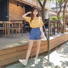 korean outfits street styles - Sites new Korean Girl Fashion, Korean Fashion Trends, Cute Fashion, Asian Fashion, Look Fashion, Fashion Outfits, Ulzzang Fashion Summer, Korean Fashion Summer Street Styles, Korea Summer Fashion