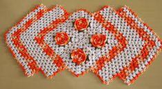 Resultado de imagem para croche caminho de mesa em forma de losango