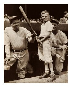 Little Bob Coleman Meets Babe & Lou Yankee Stadium, NYC - August 3, 1934 Here's Little Bob meeting The Babe and Lou Gehrig at Yankee Stadium.