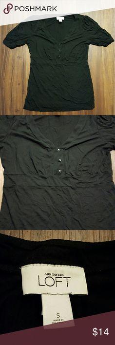 🎆Sale!🎆Ann Taylor LOFT Black Blouse Soft, light material; size small; very good condition Ann Taylor LOFT Tops Blouses