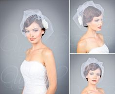 8 Wedding Veil Styles: 2. Bavolet (by EmmalineBride.com, veil by Unveiled Bridal Designs) #handmade #wedding #veils