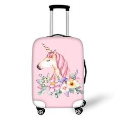 Elastic Travel Luggage Cover Watercolor Jungle Leopards Suitcase Protector for 18-20 Inch Luggage