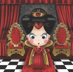 Ilustracion - Reina de Corazones - Sandra De Bedout