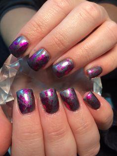 Foil Nail Art, Foil Nails, Foil Nail Designs, Nail Tech, Make Up, Nails Design, Fingers, Pink, Beauty