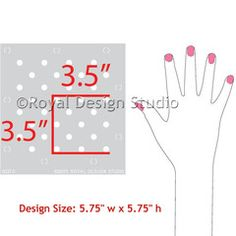 Furniture & Craft Stencil Polka Party - Royal Design Studio Stencils - www.royaldesignstudio.com