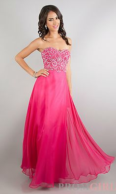 LOVE THE TOP  Floor Length Strapless Sweetheart at PromGirl.com