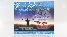 Go to http://ow.ly/C9Mx30iwM7S if you want to rise above the ups and downs of life. Register for the livecast and claim your copy of the Ultimate Energy shifting MP3 'Quantum Breakthrough'.