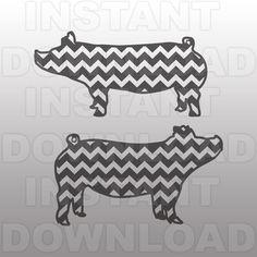 Chevron Show Pig SVG FileShow Pig SVG FileFarm Animal by sammo